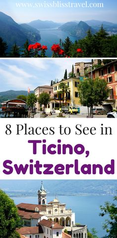 Ticino, Switzerland is absolutely beautiful. Make sure you make the most of your time spent there by seeing these 8 places in Ticino, including the beautiful Verzasca Valley. You will be blown away by these places to see in Ticino, Switzerland. Make sure you save this to your travel board so you can find it when you're planning your trip to Ticino!
