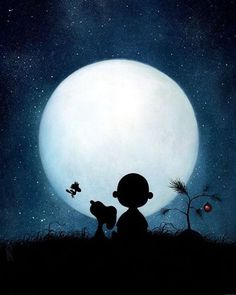 Snoopy, Charlie Brown, Woodstock, and the moon Charlie Brown Halloween, Charlie Brown Christmas, Charlie Brown And Snoopy, Charlie Brown Quotes, Snoopy Halloween, Dog Halloween, Halloween Pictures, Disney Halloween, Snoopy Love