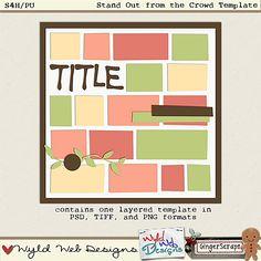 Template freebie from Wyld Web Designs #digiscrap #scrapbooking #digifree #scrap #freebie #scrapbook