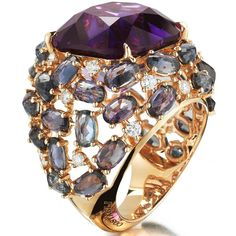 @paolocostagliofficial amethyst, sapphires, and diamonds ring.