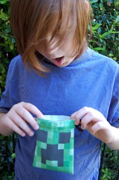 Minecraft Bag, Minecraft Party, Goodie Bags, Goodies, Parties, Handmade Gifts, Etsy, Sweet Like Candy, Fiestas