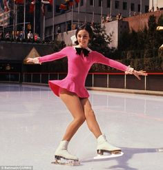 America's darling: Peggy Fleming performs here in Rockefeller Center after winning a gold medal in the 1968 Olympics at the age of 20 Rio Olympics 2016, Winter Olympics, 1968 Olympics, Peggy Fleming, Gracie Gold, Ashley Wagner, Tonya Harding, Skating Rink, Figure Skating Dresses