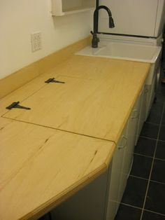 Not for the loo, but This is what i need for the counters, hinged countertop.