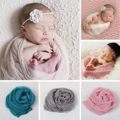 Blanket & Swaddling 1pc Ewborn Baby Infant Wrap Knit Towel Baby Photography Props Wraps Cloth Gauze
