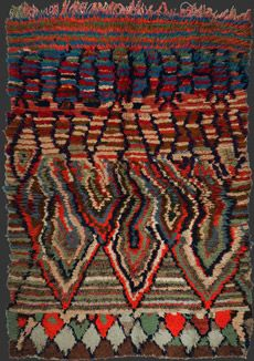 rag rug' (called Boucherouite or Boucherwit, from Moroccan Arabic bu sherwit, 'a piece torn from pre-used clothing', Textiles, Textile Prints, Textile Art, Berber Carpet, Berber Rug, Moroccan Arabic, Morrocan Rug, Rug Making, Handmade Rugs