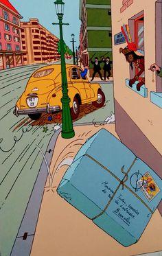 Aventures de Tintin Comic Character, Character Concept, Tin Tin Cartoon, Album Tintin, Caricatures, Herge Tintin, Comic Art, Comic Books, Ligne Claire