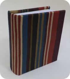 Colored stripped fabric covered book by BookbindingWorkshop, €23.00