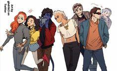 X-Teens (Jean Grey, Jubilee, Nightcrawler, Storm, Quicksilver & Cyclops) Marvel Xmen, Marvel Dc Comics, Marvel Heroes, Marvel Cinematic, Batwoman, Nightwing, X Men Evolution, Marvel Cosplay, Marvel Funny