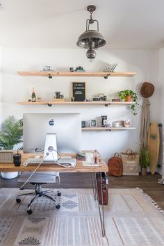 Furniture Home Office Design Ideas.Whether you are intending on adding a home office or renovating an old area into one, below are some brilliant home office design ideas to assist you get started. Decor, Furniture, Home Office Desks, Home Office Decor, Modern House Design, Home Decor, Cheap Office Furniture, Office Design, Desk Makeover Diy