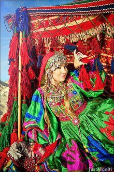 Colorful kuchi dress