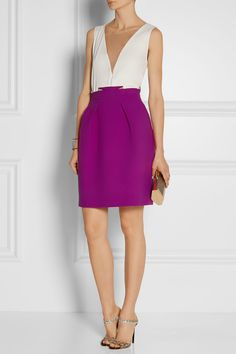 ROLAND MOURET Kava pleated wool-crepe skirt £402.50 http://www.net-a-porter.com/products/505929