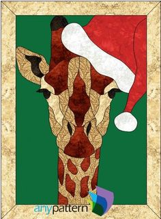 Santa Giraffe Applique Quilt Pattern