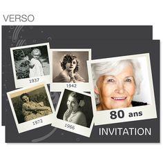 Invitations Anniversaire Adulte - Retrospective 2330