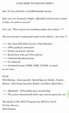How To Turn $10 InTo A $10,000 Monthly Income.  #mlm opportunities
