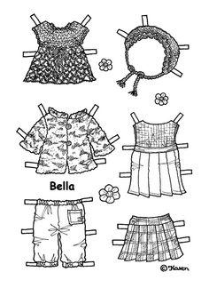 Bella Paper Doll to Print and Colour. Bella påklædningsdukke til at printe og farvelægge. - Karen Bisgaard - Picasa Webalbum