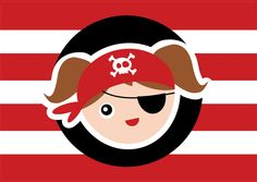 Pirate Birthday Party For Kids - Thank You Flags - Favor Flags by OopsyPrintableIdeas on Etsy