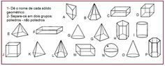Atividades com sólidos geométricos | Rérida Maria