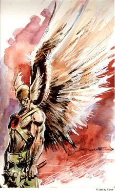 """Hawkman by Yildiray Cinar ✮✮Feel free to share on Pinterest"""" ♥ღ www.unocollectibles.com"""