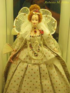 Barbie Renascimento inspirada no figurino do filme Elizabeth