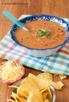 Chicken Enchilada soep recept - in my Red Kitchen