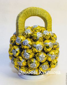 Купить Гиря сладкая. - золотой, сладкий подарок, необычный подарок, сувенир, на заказ, ручная работа