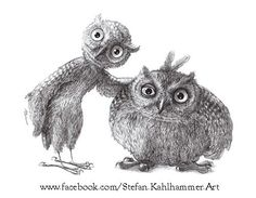 'Owls' by Stefan Kahlhammer