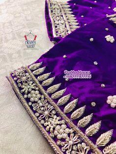Hand Work Blouse Design, Simple Blouse Designs, Stylish Blouse Design, Fancy Blouse Designs, Bridal Blouse Designs, Blouse Neck Designs, Blouse Patterns, Embroidery Neck Designs, Embroidery Suits Design