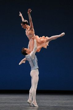 """Gonzalo Garcia and Ashley Bouder perform in """"Tchaikovsky Pas De Deux"""". This ballet will be a part of The Ashley Bouder Project, debuting in Cleveland, October 25, 2014."""