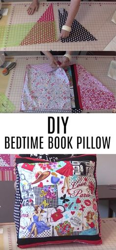 She Cuts Down Some Fabric and Makes the Perfect Pillow Everyone Who Loves to Read Needs!