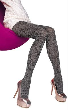 Fiore Amadea 60 Denier 3D-Patterned Microfiber Tights - See more tights at www.fashion-tights.net #tights #pantyhose #hosiery #nylons #fashion #legs #legwear #advertising #influencer #collants