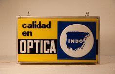 Vintage cartel iluminación Óptica Indo España