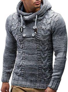 369c15e5e5 Leif Nelson LN20227 Men's Knitted Pullover, Dark Blue, US-L / EU- · Knit JacketHoodie  JacketPullover HoodieHooded SweatshirtsSweater ...