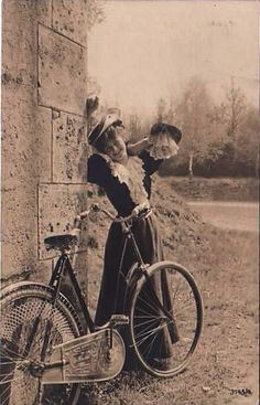 Young lady with bicycle c.1907