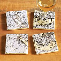 Nautical Chart Coasters courtesy of National Geographic