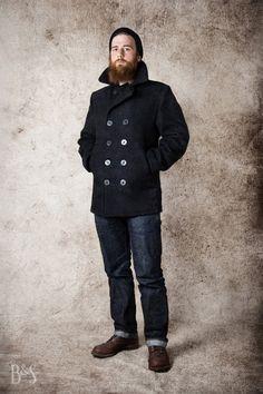 Schott Peacoat, Edwin Jeans, Red Wing Iron Ranger - www.burgunschild.com