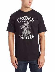 Crooks and Castles Men's Knit Crew T-Shirt Tread On Me