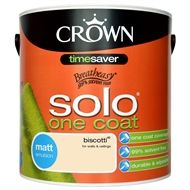 Find Crown Breatheasy Solo Biscotti - One Coat Matt Emulsion Paint - 2.5L at Homebase. Visit your local store for the widest range of paint & decorating products.