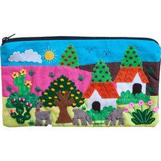 Andean Arpillera Zip Bag