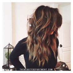 20 Layered Hairstyles for Women with 'Problem' Hair Thick, Thin,... ❤ liked on Polyvore featuring hair and thick hair accessories
