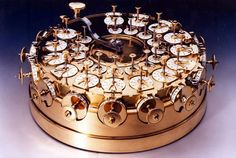 """This beautiful machine was built by engineer Johann Helfrich Müller around 1784. The """"calculating machine"""" could perform the four basic arithmetic operations."""