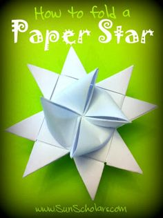 Sun Scholars: How to Fold a Danish Paper Star. Step by step photo instructions. These Danish paper stars are commonly used to decorate over the Christmas holiday, but beautiful any time! Danish Christmas, Scandinavian Christmas, Holiday Crafts, Fun Crafts, Paper Crafts, Folded Paper Stars, Christmas Holidays, Christmas Ornaments, Christmas Ideas