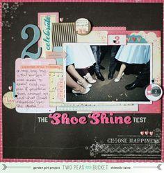 SHOE SHINE SCRAPBOOK PAGE IDEA