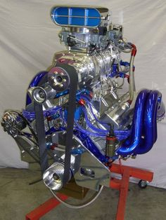 Engine Porn - Porn For Gearheads - blue blow yes! Motor Engine, Car Engine, Engine Swap, Engine Block, Motorcycle Engine, Chevy Motors, Performance Engines, Race Engines, Us Cars