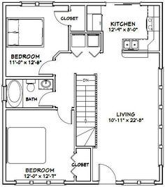 28x32 House 28X32H2K 848 sq ft Excellent Floor Plans