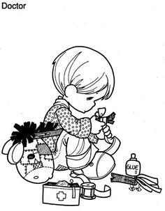 Enfant réparer son Coloriage cheval à bascule 1435 coloriage à imprimer