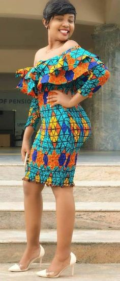 The complete pictures of latest ankara short gown styles of 2018 you've been searching for. These short ankara gown styles of 2018 are beautiful Best African Dresses, African Traditional Dresses, African Print Dresses, African Attire, African Wear, African Fashion Dresses, African Women, Fashion Outfits, African Prints