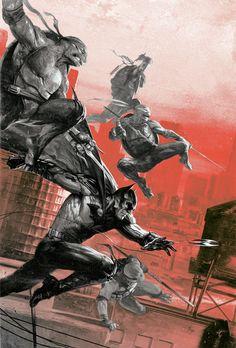 Batman TMNT #1 Bulletproof Variant Dell'Otto