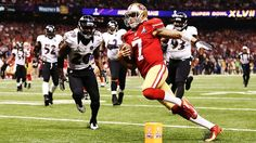 Colin Kaepernick and the San Fransisco 49ers hope to become the first losing team in 40 years to win the Super Bowl the next year. Description from sportsthenandnow.com. I searched for this on bing.com/images