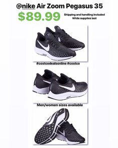 "b6d25b1b3c76 COSTCO DEALS ONLINE on Instagram  ""Nike Air Zoom Pegasus 35 available in  men s and women s sizes for  89.99! Shipping and handling included"