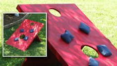 Create your own corn hole boards for hours of tailgating fun!